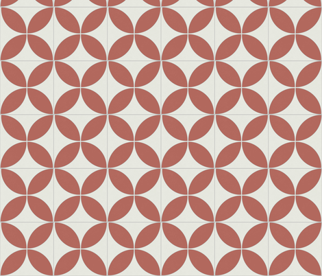 Red Circle 1 fabric by the_outfoxed on Spoonflower - custom fabric