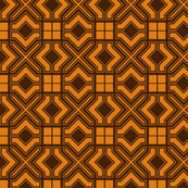 Arabic Themed Burnt Orange Tile