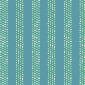 Dots and stripes in yellow, green & blue