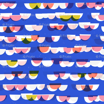Waves and Boats M+M Cobalt by Friztin