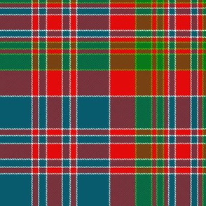 "MacDonald of Boisdale clan tartan, 10"" bright"