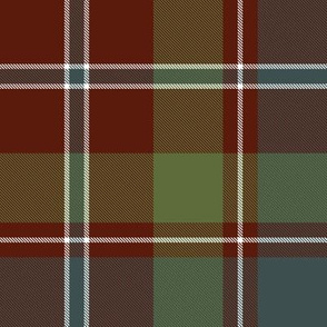 "MacDonald of Glenladale tartan, 8"" muted"
