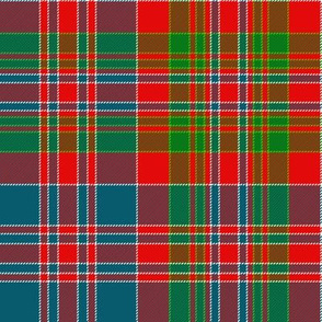 "MacDonald of Boisdale clan tartan, 8"" bright"