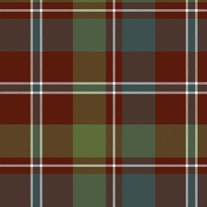 "MacDonald of Glenladale tartan, 6"" muted"