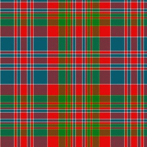 "MacDonald of Boisdale clan tartan, 6"" bright"