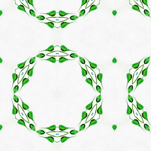 Green Leaf Penagon  01