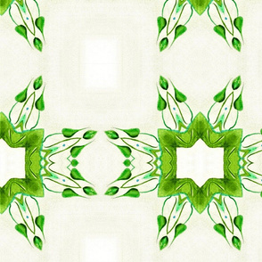 Green Leaf with Boarder  01