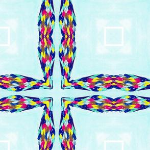 Quad Flower Cross  01