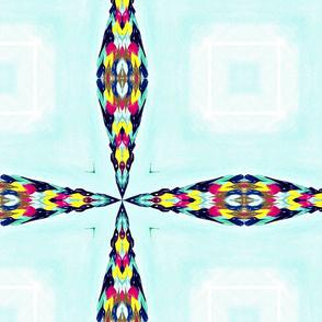 Quad Flower Triangles  01