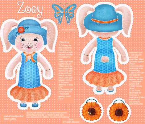 Zoey Bunny fabric by cindi_g on Spoonflower - custom fabric