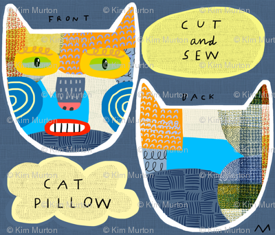"10"" Calico Cat Pillow"