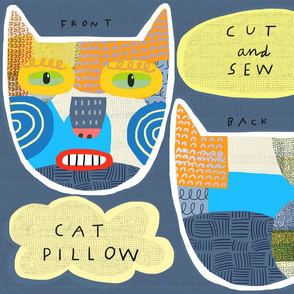 "10"" Calico Cat Pillow"