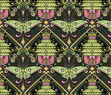 Luna Moth chinoiserie fabric by beesocks on Spoonflower - custom fabric