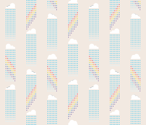 It's raining rainbows fabric by co_mix on Spoonflower - custom fabric