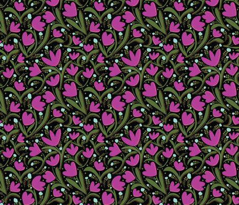 Tulips13 fabric by jezpokili on Spoonflower - custom fabric