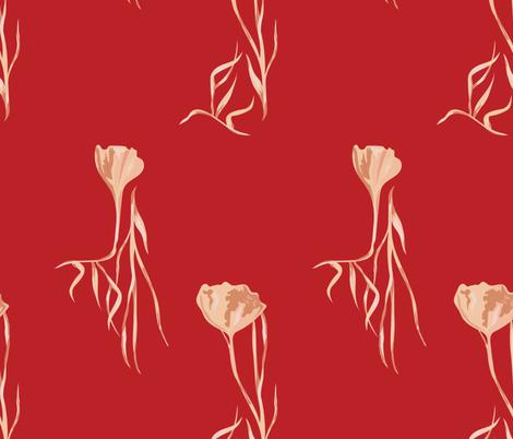 FAN LEAF  fabric by studio_lcy on Spoonflower - custom fabric
