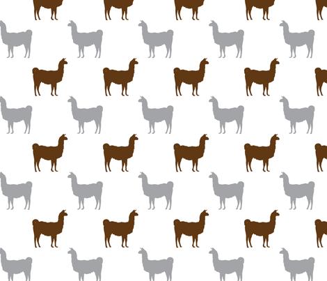 Llamas fabric by charleyzollinger on Spoonflower - custom fabric