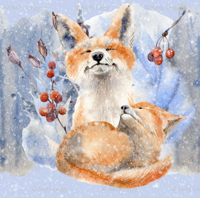 Winter Red Foxes(Large)
