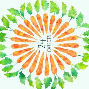 24K carrots vegetables pun tea towel