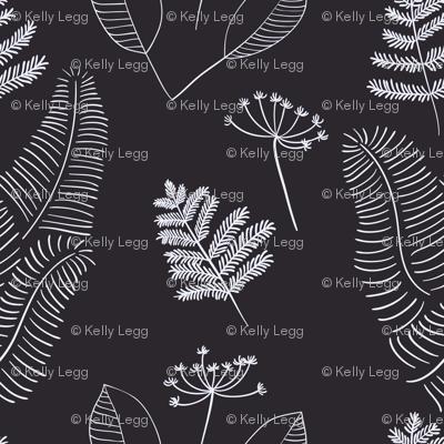 Black & White Botanical(Large)
