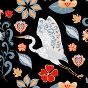 Folk Style Heron (Large)