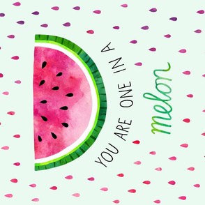 Watermelon fruit pun tea towel