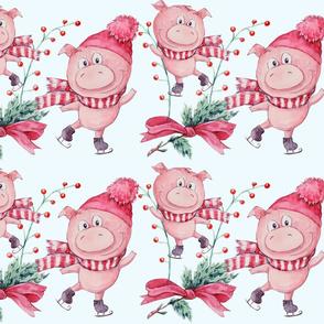 Happy Piggy Skating