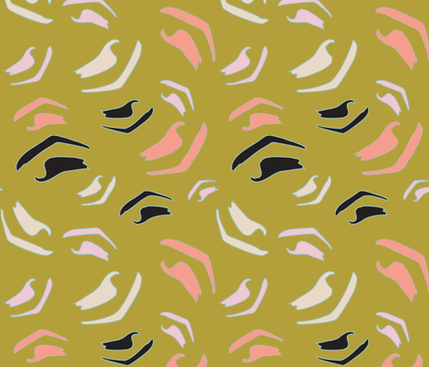 ABSTRACT EYEBROWS fabric by studio_lcy on Spoonflower - custom fabric