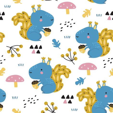 squirrel_pattern fabric by yuliia_studzinska on Spoonflower - custom fabric