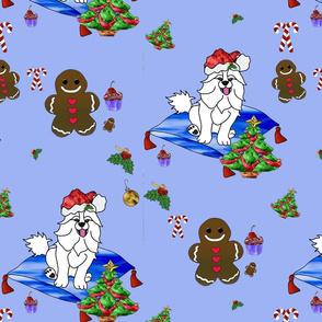 SantaPaws Dreams of  Gingerbread Men