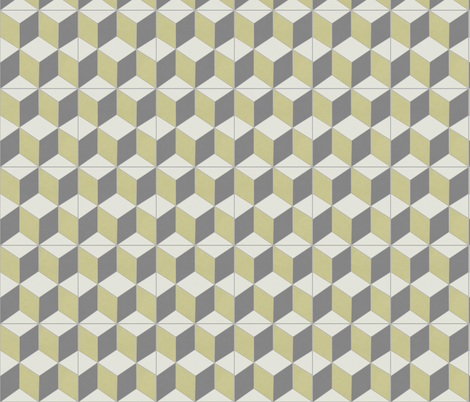 Yellow + Gray Box 1 fabric by the_outfoxed on Spoonflower - custom fabric