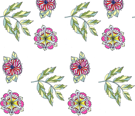 Sprigs fabric by unclemamma on Spoonflower - custom fabric