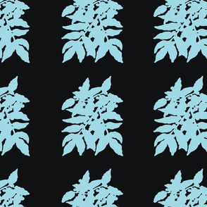 leaves_blk_turquoise