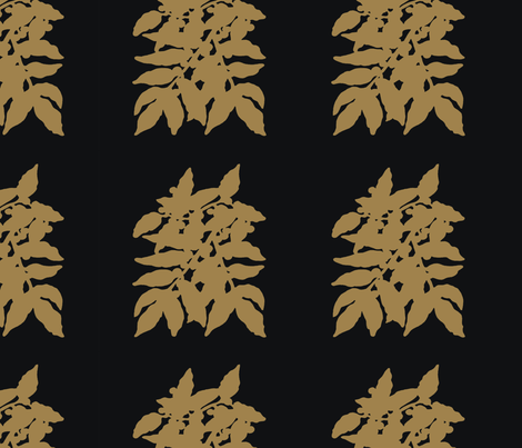 leaves_Brown fabric by monarch_design_studio on Spoonflower - custom fabric