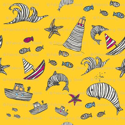 Striped Sea World Yellow