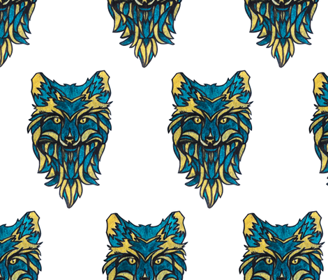 wolf fabric by avot_art on Spoonflower - custom fabric