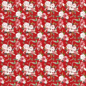 IBD Christmas Florals RED 2x2