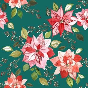 Poinsettia berry EMERALD 8x8