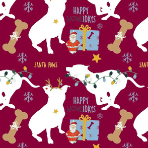 White Bull Terrier Christmas(Large)