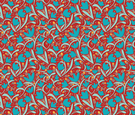 Tulips9 fabric by jezpokili on Spoonflower - custom fabric