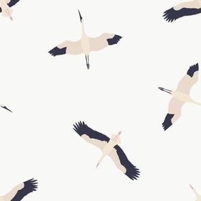 Flying Cranes / Maison de Fleurs