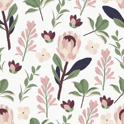 Vintage Garden Maison De Fleurs Giftwrap Julia Dreams Spoonflower
