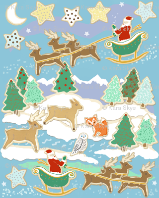 Christmas Cookies Forest
