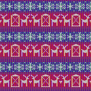 Reindeer barn red 6x6