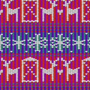 Reindeer barn red 12x12
