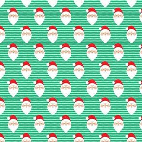 "(1"" scale) santa on stripes - green C18BS"