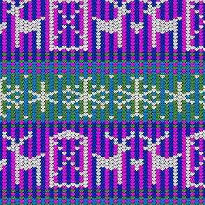 Reindeer barn pink 12x12
