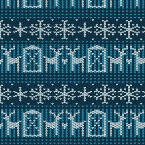 Reindeer barn blue 8x8