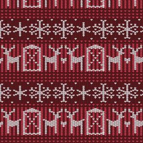 Reindeer barn deep red 8x8