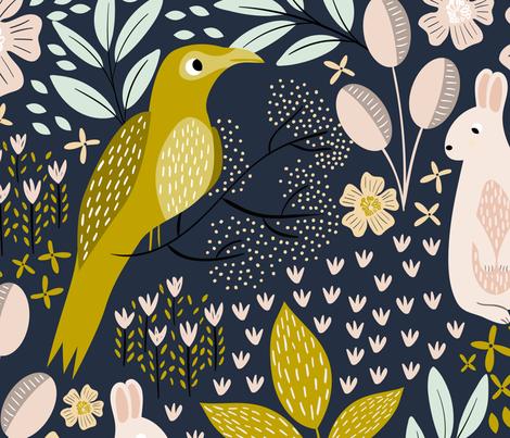 Woodland Flora - Extra Large fabric by melarmstrongdesign on Spoonflower - custom fabric